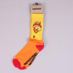 Psockadelic - Psockadelic Flaming Turd Socks