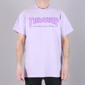 Thrasher - Thrasher Outlined Orchid Tee Shirt